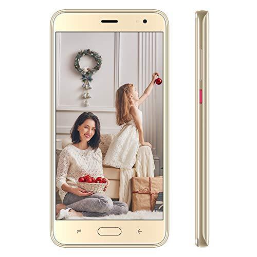 Teléfono Móvil Libres, Duoduogo J5 Móvil Ofertas Baratos 5.5 Pulgadas HD Pantalla, 8 MP + 5 MP, 4800 mAh Batería, 16 G ROM 128 GB Ampliables, Dual 4G SIM Económicos Android 9.0 Smartphone Barato