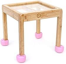 Little Balance Box 2-in-1: No Wheels Spring Feet, Girl Boy Baby Walker Push Stand Toys, Toddler Activity Table, Award Winning (Pink)
