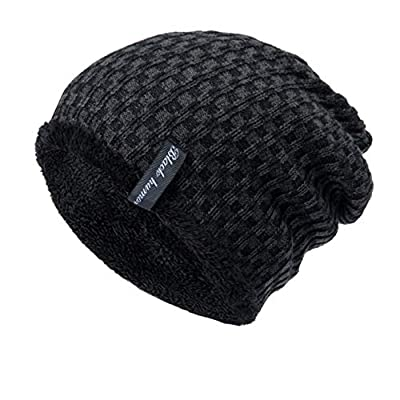 KFSO Clearance!Winter Beanie Hat Warm Knit Hat Thick Knit Skull Cap for Men Women