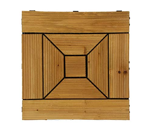 JDSNXK Packung Mit 11 Antirutsch-Terrassendielen Mit Verriegelung - Patio, Balkon, Dachterrasse, Whirlpool 30 cm X 30 cm Terrassendielen Bodenbelag Innen- Oder Außenbereich