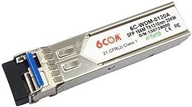 6COM BIDI SFP Transceiver 155M 1310nm TX / 1550nm RX 20KM SC Connector compatible with Alcatel SFP-100-BX20NU