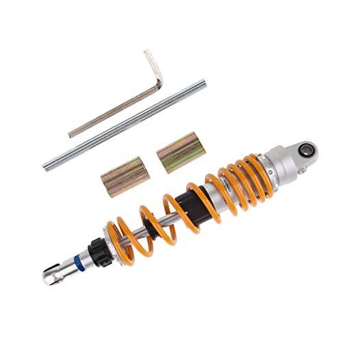 Almencla Motorrad Stoßdämpfer hinten hinterer Dämpfer für Yamaha und mehr, Gesamtlänge: 350mm / 360mm / 370mm / 380mm / 390mm wählbar - Orange OLS-360