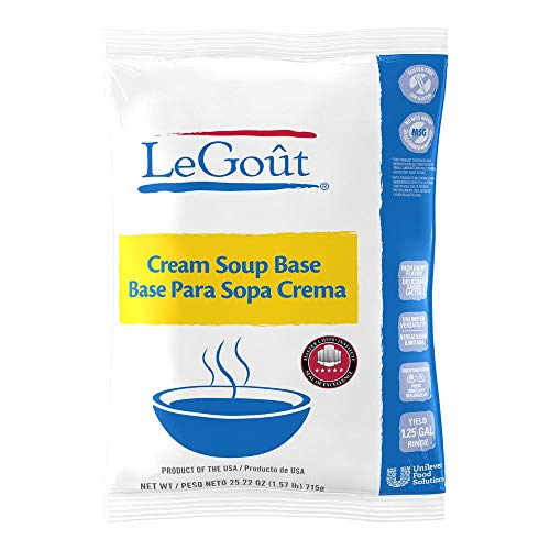 LeGout Cream Soup Base Vegetarian, Gluten Free, No Artificial Flavors or Preservatives, No added MSG, 25.22 oz, Pack of 6