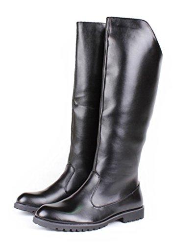 [Cnstone] メンズ ロングブーツ 乗馬ブーツ ジョッキーブーツ 革ブーツ ライダースブーツ 軍服系コスプレ モード系 ビジュアル系 ゴシック系 メンズフブーツ 長靴 (42/26.0cm)