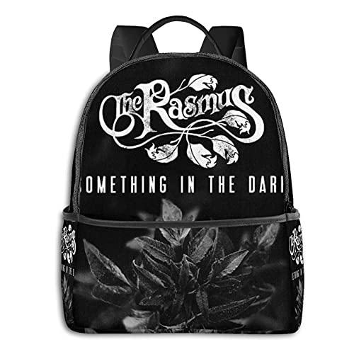 Something In The Dark By The Rasmus Zaino Casual Da Viaggio Bookbag Con Cerniera Per Business Scuola Lavoro Computer Portatile Bookbag