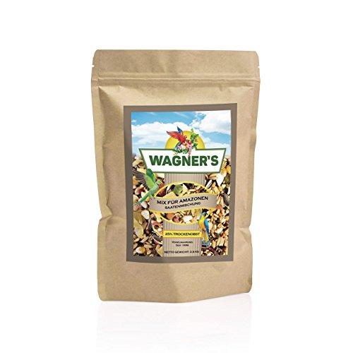 Wagner\'s ® | Mix - Papageienfutter für Amazonen - 2,5 kg Saaten & Obst