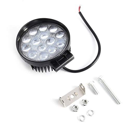 Universal IP67 imprägniern 42W LED Arbeitslicht runde Form Auto Auto Scheinwerfer mit 14pcs * 3W LEDs für 12V Fahrzeuge - schwarz