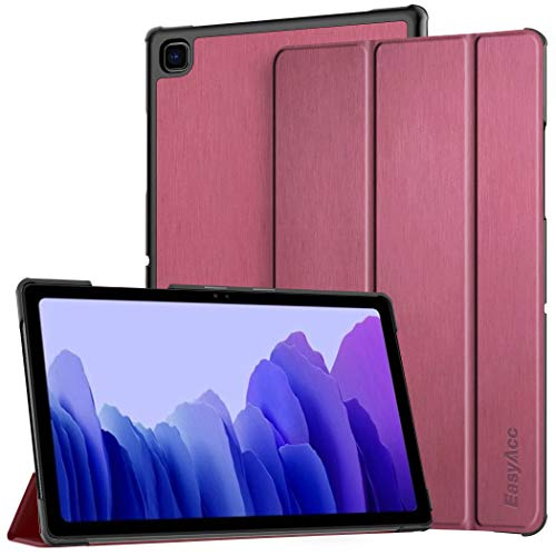 EasyAcc Hülle Kompatibel mit Samsung Galaxy Tab A7 10.4 2020 SM-T500 T505 T507, Ultra Dünn mit Standfunktion Slim PU Leder Smart Schutzhülle mit Auto Sleep Wake Up Funktion, Zwetschgen Purpur