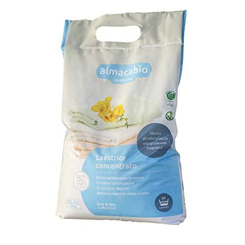Almacabio Detergente in Polvere per il Bucato in Lavatrice e a Mano, 5250 Grammi