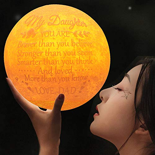 FAYERXL Engraved 3D Moon Night Light