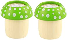 TOYANDONA 2PCS Cute Mushroom Kaleidoscope Wooden Mushroom Toy Polygon Prism Gift Smooth Polished Kaleidoscope Educational Prop (Green)