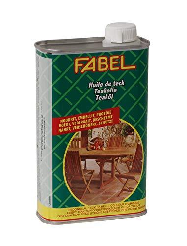 FABEL Spezial-Pflegeöl für Gartenmöbel aus Teak Holz, 500ml
