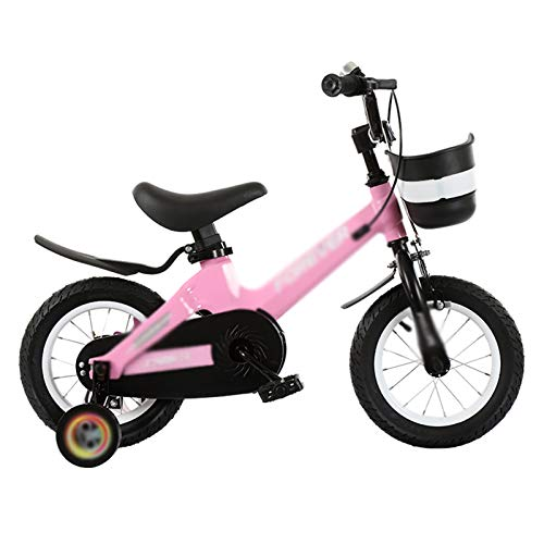 Kids Bikes Chunlan Bicicleta para Niños Al Aire Libre Chico Chica Bicicleta De Montaña Altura Ajustable Freno De Disco De Seguridad para Niños De 2 A 8 Años 4 Colores(Size:16 Inches,Color:Rosado)