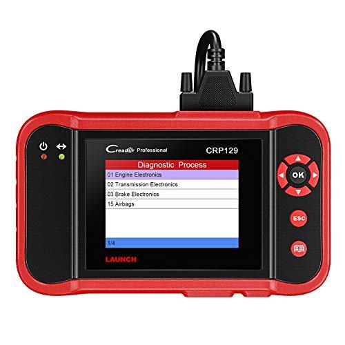 LAUNCH CRP129 OBD2 Lecteur de Code Outil de Diagnostic pour Boîte de Vitesse Moteur ABS et SRS (Airbag) Diagnostics avec Service de Réinitialisation du Vidange/EPB/SAS