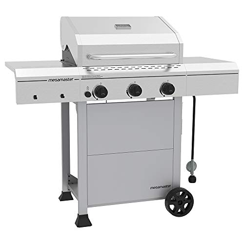 Megamaster 720-0804D Propane Gas Grill, Stainless Steel Grills Propane