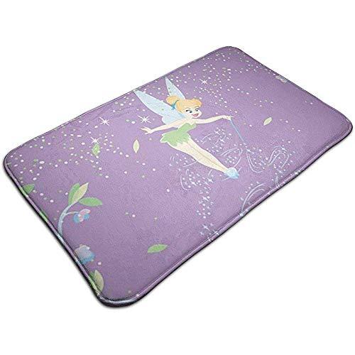N/A Willkommen Fußmatte Tinkerbell mit Blume Indoor Outdoor Eingang Teppich Fußmatten Schuh Schaber 15,7 x 23,5 Zoll