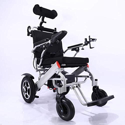 Behinderte Ältere Menschen Elektrorollstuhl Aluminiumlegierung Material Intelligent Ultra Portable Durable Power Rollstuhl Material Faltbare Doppelmotor High Power für...