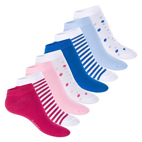 Footstar Damen Motiv Sneaker Socken (8 Paar), Kurze süße Söckchen mit Mustern - Multicolor 39-42