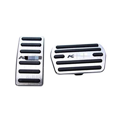 Pedales para Coche Pedal Cubiertas para Ford Escape Kuga 2013-2017 Pedal De Freno De Gas De Automóvil Sin Taladro Antideslizante con Gomas De Aluminio Coche Pedal ReposapiéS