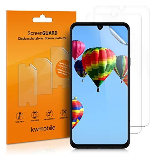 kwmobile 3X Schutzfolie kompatibel mit LG G8X ThinQ - Folie klar - Bildschirmschutzfolie Bildschirmschutz transparent Bildschirmfolie