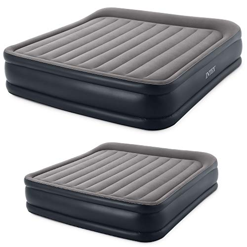 Intex King Inflatable Airbed w/ Built In Pump and Queen Airbed w/ Built-in Pump