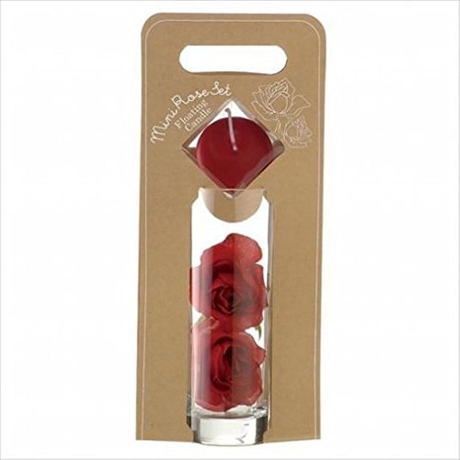横向きスティックビットkameyama candle(カメヤマキャンドル) ミニローズセット 「 ワインレッド 」(A7620005WR)