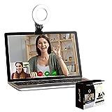 Video Konferenz-Beleuchtungsset,Beleuchtung für Monitor-Clip-On, für Fernarbeit, Fernunterricht, Zoom-Anrufbeleuchtung, Selbstübertragung & Live-Streaming
