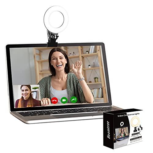 Video Konferenz-Beleuchtungsset,Beleuchtung für Monitor-Clip-On, für Fernarbeit, Fernunterricht, Zoom-Anrufbeleuchtung, Selbstübertragung und Live-Streaming