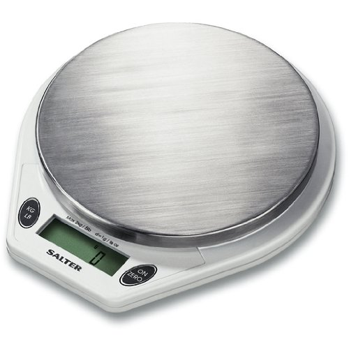 Salter Digital Read Out Stainless Steel and White 5lb. Kitchen Scale