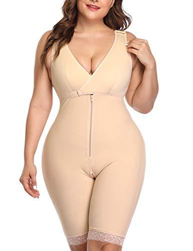 LaLaAreal Corsé de Mujer Cintura de Barriga Fajas modeladora Body Shaper Ropa Interior Plus Size
