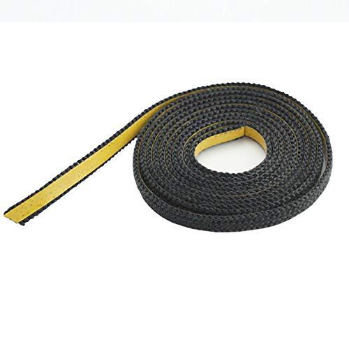 Dichtband selbstklebend schwarz 20mm x 2mm ideal für Scheibendichtungen von Kaminöfen