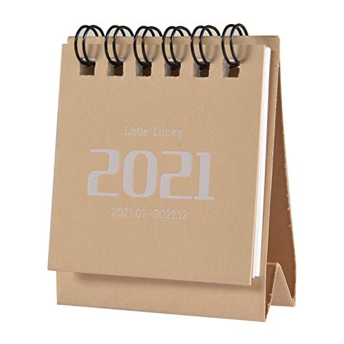 Mini calendario de escritorio 2021 - Calendario mensual abatible de pie Calendario de escritorio 2021, Calendario de escritorio pequeño Conveniente para planificar la organización del horario diario