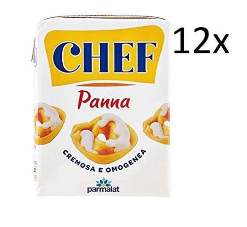 12x Parmalat Panna chef Sahne per cucinare Kochcreme creme fur Koch 200ml