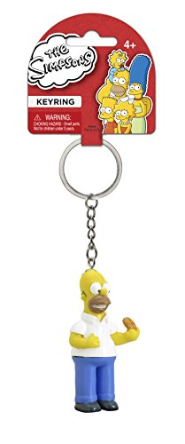 Fox The Simpsons Homer with Donut 3D PVC Key Ring,Yellow