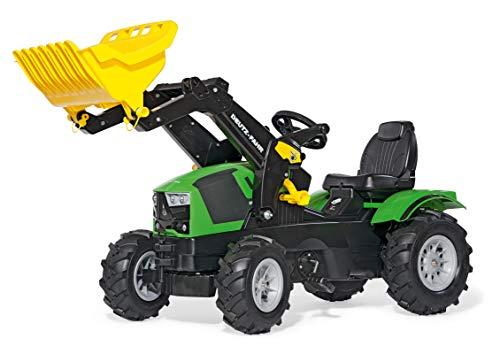 Rolly Toys rollyFarmtrac Trettraktor Deutz-Fahr 5120 (mit rollyTrac Lader, für Kinder von 3-8 Jahre, Sitz verstellbar, Luftbereifung) 611218