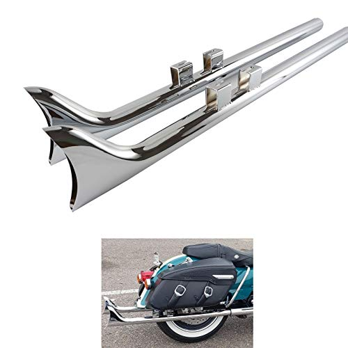 36 Inch Fishtail Exhaust for Harley Davidson 1995-2016 Touring Models, Such as Road king, FLHR, Street Glide, FLHXS, Ultra Limited, More Powerful Sound 36 Fishtail Exhaust by Handmo