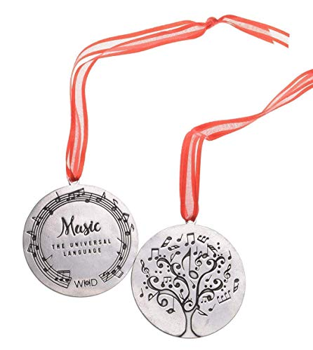 Music Ornament for Christmas Tree - Great Piano Teacher Gift, Band Director or Music Lover Present