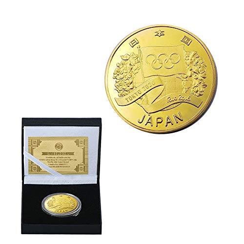 2020,Tokio,Japón,Los Juegos Olímpicos,Heisei 32 Años,la Oferta Ganadora,Monedas Conmemorativas,Anillos de Oro,Colecciones,Hermoso,Regalo Obra de Arte/dorado/A
