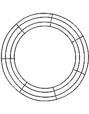 oshhni Krans ram metallblommor krans ram för alla hjärtans dag festdekoration – 30 cm_svart