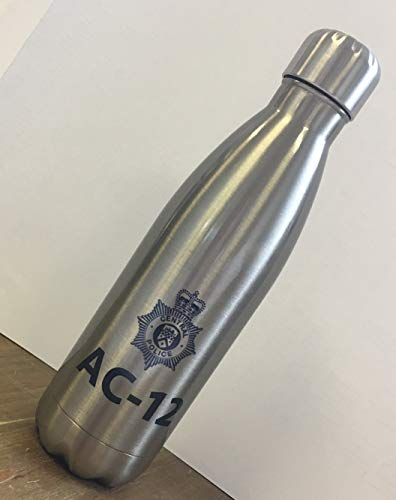 Not Just A Print Line of Duty AC-12 AC12 Police Bouteille d'eau Isotherme en Acier Inoxydable
