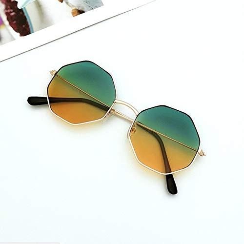 xingxing Gafas de sol redondas de plástico para mujer, estilo retro, con montura de gafas de sol de plástico (marco de color: 2)