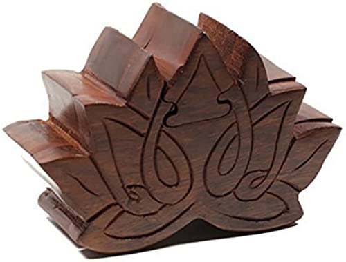 Fair Trade Lotus Wooden Puzzle Box by Handmade Expressions