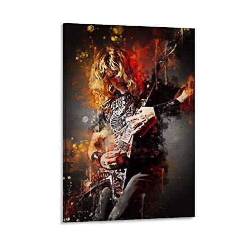 rongtao Póster de Dave Mustaine Megadeth en lienzo y arte de pared,...