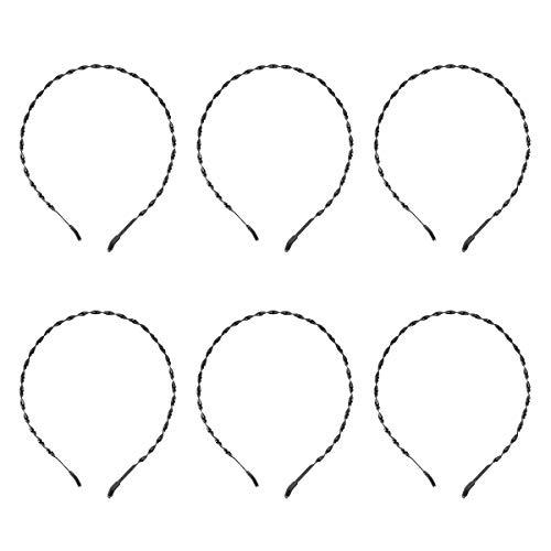 Minkissy 6 Piezas Metal Espiral Primavera Pelo Aro Banda Ligero Broche de Pelo Horquilla Fijador para Mujeres Hombres Negro
