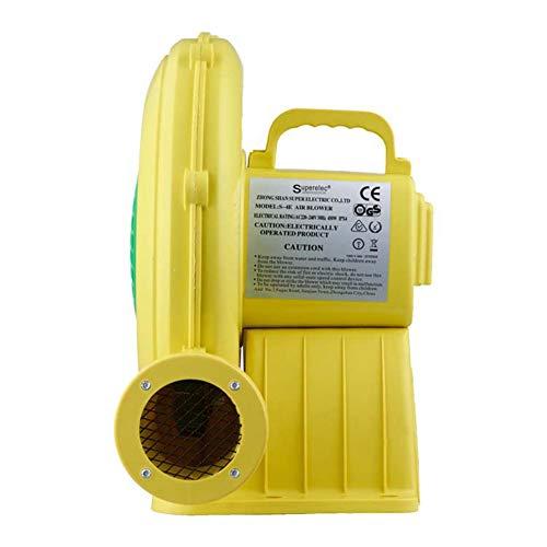 Wumudidi Ventilador de la Bomba del soplador de Aire, Ventilador Inflable ignífugo del Ventilador de Aire del Castillo del soplador Inflable de la Boda Ipx4,480W,UK