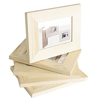 WALLNITURE Ready to Paint DIY Picture Frames Unfinished Wood 5x7 Set of 5