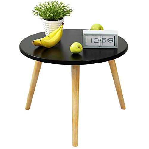 Sofa Side Table Ronde Balkon snack zwarte afwerking Coffee Table Huis Accent Table