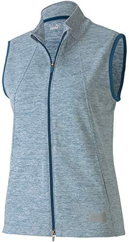 PUMA Golf Women's 2020 Cloudspun Warm Up Vest Sin mangas, Digi-azul jaspeado, L para Mujer