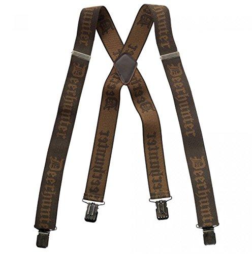 Deerhunter Logo-Hosenträger m. Clips, 130 cm, Einheitsgröße, Braun