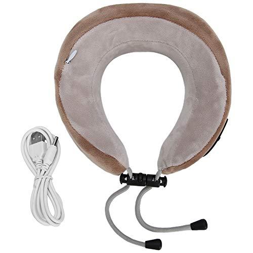Masajeador de cuello eléctrico multifuncional y práctico, almohada en forma de U, hombro, vértebra cervical, alivio de la fatiga, masajeador para múltiples edades